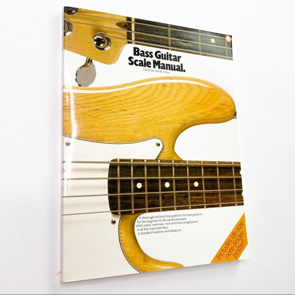Vintage Other - Vintage Bass Guitar Scale Manual Sheet Music Book